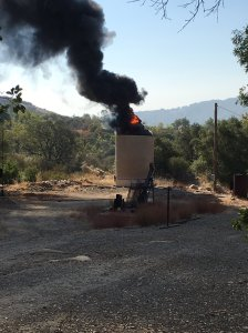 Ventura County fire Capt. Mike Lindbery tweeted this photo of a petroleum storage tank burning on Aug. 5, 2016.