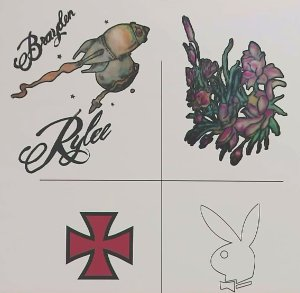 A closeup shows tattoos that were on the body of a woman found near Gorman on Aug. 14, 2016. (Credit: LASD)