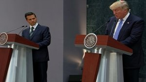 Donald Trump and Mexican President Enrique Peña Nieto held a news conference on Aug. 31, 2016. (Credit: CNN)