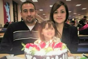 Luis Anaya is seen with his daughter, Jennabel Anaya, and girlfriend, Carina Mancera, in a photo posted to a GoFundMe page.