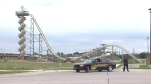 A 10-year-old boy died while riding the Verrückt, the world's tallest water slide, a spokeswoman for Schlitterbahn water park said. (Credit: WDAF)