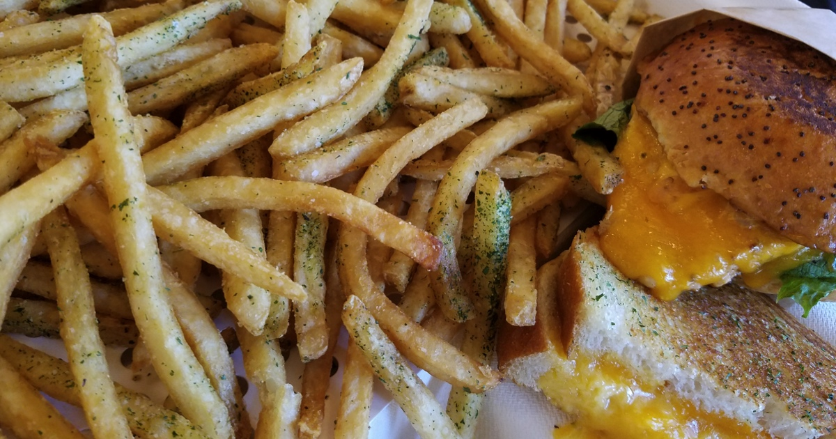 the melt smartbox french fries grilled cheese
