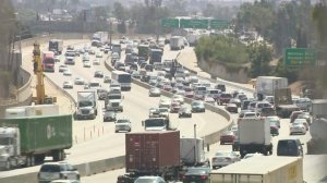 Part of the 710 Freeway where northbound lanes are expected to be shut down for nine weekends is shown on Sept. 23, 2016. (Credit: KTLA)
