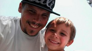 Arthur William Boucher and his son, Ryker, are seen in an undated photo posted on a GoFundMe page on Sept. 25, 2016.