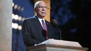 Former Secretary of State Colin Powell onstage at the 27th National Memorial Day Concert on May 29, 2016 in Washington, DC.  (Credit: Paul Morigi/Getty Images for Capitol Concerts)