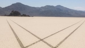 """Federal investigators have identified a suspect believed responsible for driving across the remote dry lake in Death Valley National Park known as """"Racetrack Playa."""" (Credit: National Park Service)"""