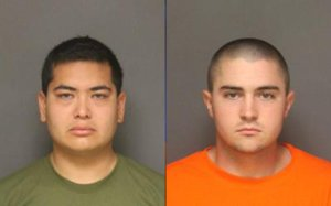 Frank Felix, left, and Josh Acosta are shown in a booking photo released Sept. 25, 2016, by the Fullerton Police Department.