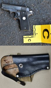 A gun and holster police say were recovered from the scene are shown in an image released Sept. 24, 2016, by the Charlotte-Mecklenburg Police Department.