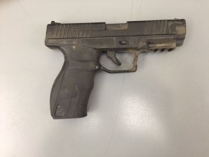 Ventura County Sheriff's Office officials released this photo of a replica BB gun allegedly used by Dean Aguilar on Sept. 7, 2016.