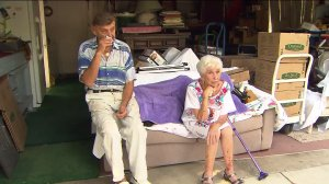 Hank and Helen Kawecki are preparing to leave the Thousand Oaks residence they've called home for more than 50 years. (Credit: KTLA)