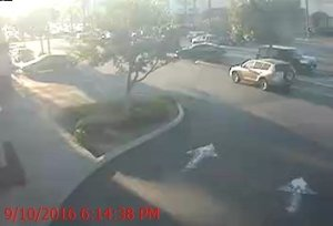 Long Beach police released this image of a light colored SUV, likely a Toyota Rav-4, suspected in the hit-and-run of pedestrian Maria Mendoza on Sept. 10, 2016.