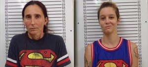 Patricia Spann, left, and Misty Spann are seen in booking photos obtained by KTLA sister station KFOR.