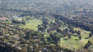 An aerial view taken from the MetLife blimp on Feb. 19, 2016, shows the Riviera Country Club. (Credit: Luis Sinco / Los Angeles Times)
