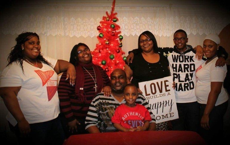 Terence Crutcher, fatally shot by a Tulsa, Oklahoma, police officer on Sept. 16, 2016, is shown at center in a family photo obtained by CNN.