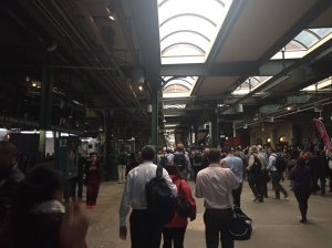 A New Jersey Transit train crashed into a platform in Hoboken during Thursday morning's rush-hour commute. (Credit: Danielle Reisch/iReport)