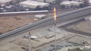 "The Torrance refinery experienced another ""unplanned flaring"" on Sept. 19, 2016. (Credit: KTLA)"