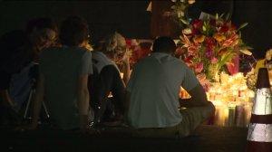 A vigil was held Tuesday night for Carlos Segovia in South Los Angeles. (Credit: KTLA)