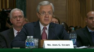 Wells Fargo CEO John Stumpf testified in front of the Senate Banking Committee on Sept. 20, 2016. (Credit: CNN)