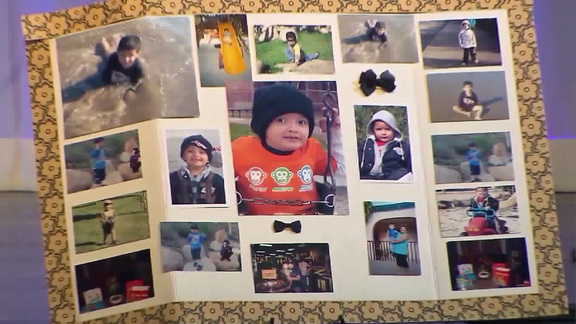 Pictures of Yonatan are scene at a memorial held for him on Sept. 14, 2016. (Credit: KTLA)