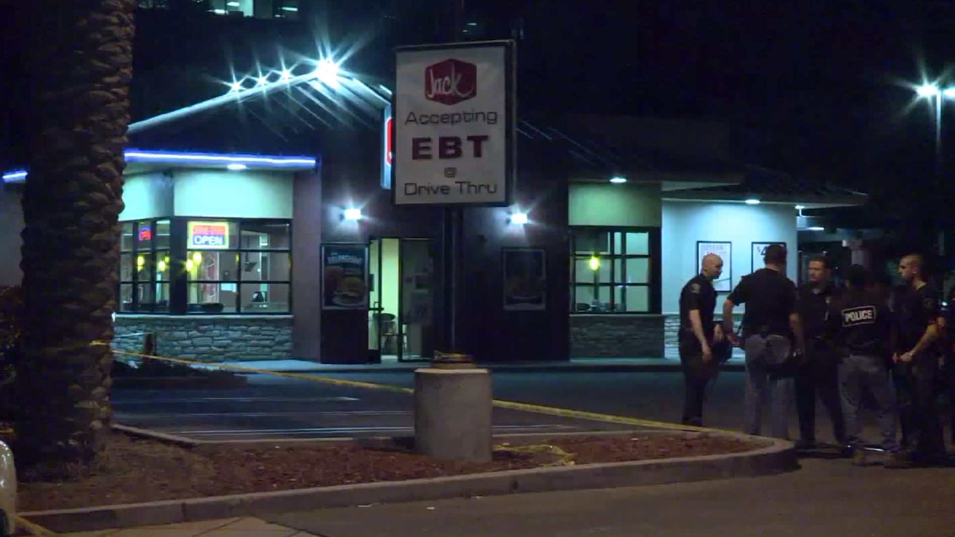 An employee at the Jack in the Box in El Monte was fatally shot on Oct. 21, 2016. (Credit: KTLA)