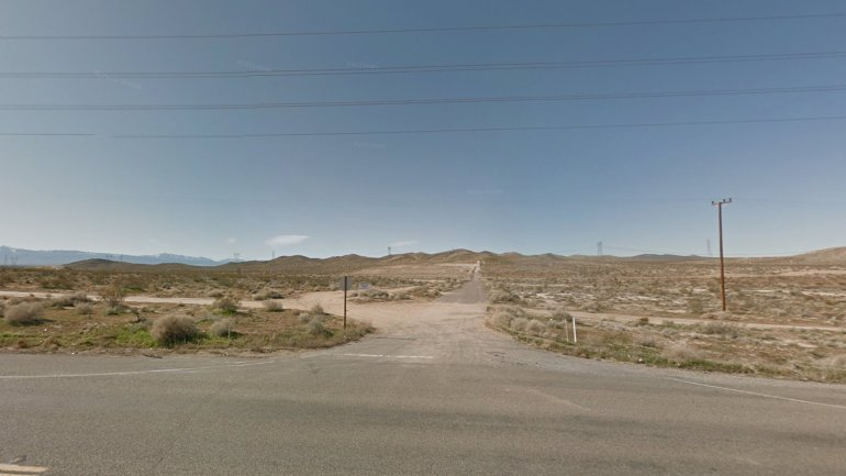 is shown facing west from Highway 365 in Adelanto in an undated Google Maps Street View image.