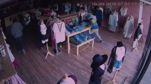 Surveillance video captured two people burglarizing a boutique in Covina (Credit: OOTDFash)