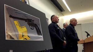 Los Angeles police say Jesse Romero carried this gun before he was fatally shot by police in August. (Credit:Bryan Chan / Los Angeles Times)