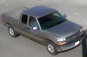 The suspect's truck is shown in an image released by the Moreno Valley Police on Oct. 18, 2016.