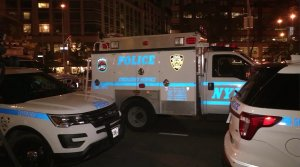 Vehicles with the New York Police Department (Credit: CNN)