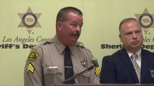 Sheriff's Sgt. Steve Owen speaks in July 2015 about rescuing an abducting toddler. He died Oct. 5, 2016. (Credit: KTLA)