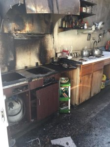 The Los Angeles County Sheriff's Department released this image of the remnants of a kitchen fire in San Gabriel on Oct. 17, 2016.
