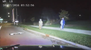 The Menasha Police Department in Wisconsin released this video of an alleged clown prank on Oct. 7, 2016.