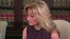 Summer Zervos sits alongside Gloria Allred at a news conference in L.A. on Oct. 14, 2016. (Credit: CNN)