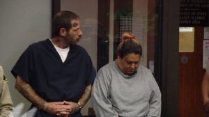 Johnny Lewis Hartley and Mercy Mary Becerra appear in court in San Diego in August 2016. (Credit: KSWB)