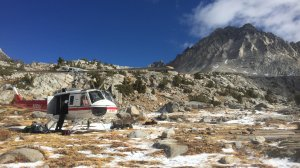 A rescue helicopter is shown in a photo released Oct. 25, 2016, by Sequoia and Kings Canyon National Parks.