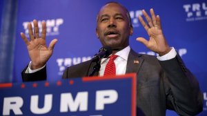 Ben Carson delivers remarks during a Trump campaign event at the DoubleTree by Hilton November 1, 2016 in Valley Forge, Pennsylvania. (Credit: Chip Somodevilla/Getty Images)
