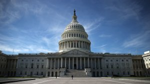 The US Capitol is shown October 11, 2016 in Washington DC. House and Senate Republicans are in a close race with Democrats to keep control of both houses of Congress. (Credit: Mark Wilson/Getty Images
