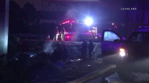 Four people were killed in a fiery crash in Gardena on Nov. 27, 2016. (Credit: Loudlabs)