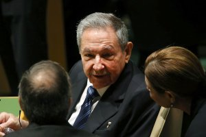 Cuban President Raul Castro attends the United Nations General Assembly at U.N. headquarters on Sept. 28, 2015 in New York City. (Credit: Spencer Platt/Getty Images)
