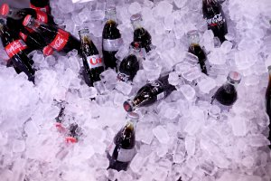 Coca-Cola and Diet Coke bottles on display at Southern Glazer's Wine and Spirits Trade Day presented by Beverage Media at Pier 94 on Oct. 14, 2016, in New York City. (Credit: Nicholas Hunt/Getty Images for NYCWFF)