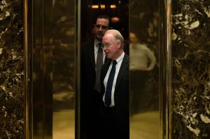 Rep. Tom Price gets into an elevator at Trump Tower, Nov. 16, 2016, in New York City. (Credit: Drew Angerer/Getty Images)