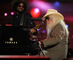 Musician Leon Russell performs onstage at the 2010 MusiCares Person Of The Year Tribute To Neil Young at the Los Angeles Convention Center on Jan. 29, 2010. (Credit: Larry Busacca/Getty Images for NARAS)