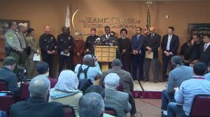 Stephen Woolery of the FBI speaks at an L.A. news conference Nov. 28, 2016, on threatening letters sent to mosques. (Credit: KTLA)
