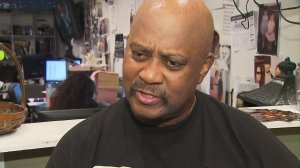 E.J. Jackson helped feed thousands of people every year during his foundation's Thanksgiving giveaway. (Credit: KTLA)