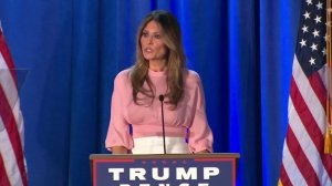Melania Trump speaks in Berwyn, Pennsylvania, on Nov. 3, 2016. (Credit: CNN)