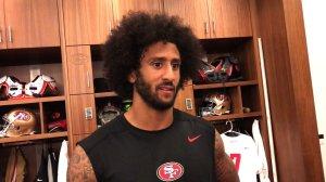Colin Kaepernick of the San Francisco 49ers. (Credit: CNN)