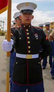 Lance Cpl. Carlos Segovia Lopez is shown in a photo provided to KTLA by a family friend.
