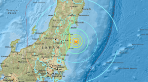 A map shows the location of a Nov. 21, 2016, earthquake in Japan. (Credit: USGS)