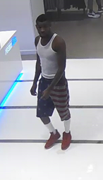 A man suspected of robbing a 90-year-old victim at Westfield Culver City is shown in a surveillance image released Nov. 22, 2016, by the Culver City Police Department.