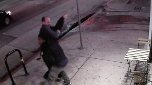 The struggle between a Venice store owner and a would-be robber was caught on surveillance video on Nov. 21, 2016.